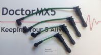 8mm HT Lead Set Mazda MX5 MK1, GREEN, Ignition / Spark Plug Lead Set 1.6. Eunos